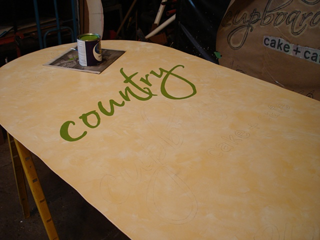 Painting Sign by Hand