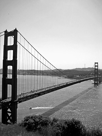 Golden Gate Bridge- BW2