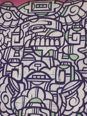 Green grafitti detail