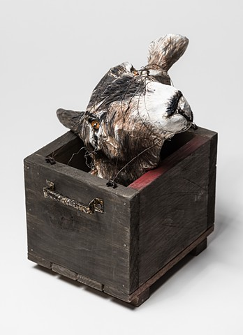 Folk tales, fables and legends manifested in a goat head