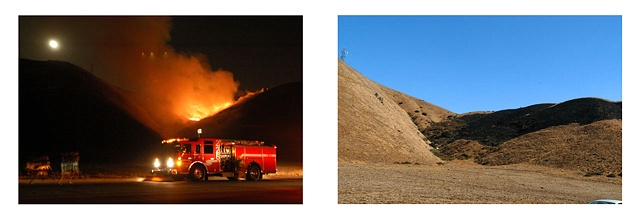 Little Mountain Fire: July 30, 2004 9:54 pm, August 2, 2004 4:28 pm