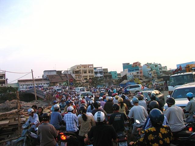 Saigon rush hour.