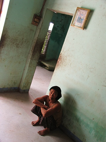 A woman in her home outside of Danang.