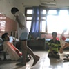 Teenagers hang out during rest area at Tu' Du' hospital.