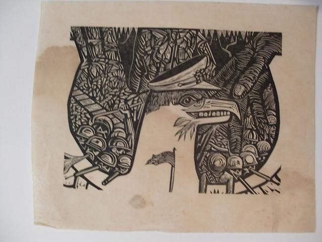 Gravado en madera de Carlos Raquel Rivera imagen de alexisfigueroa.com