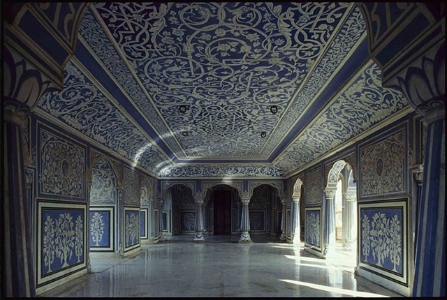 Reception room in the City Palace, Jaipur (India)