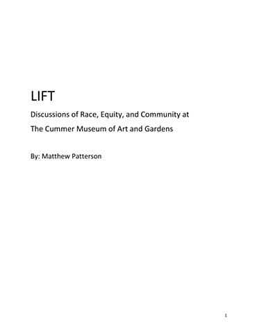 LIFT Discussions of Race, Equity, and Community at  The Cummer Museum of Art and Gardens p.1