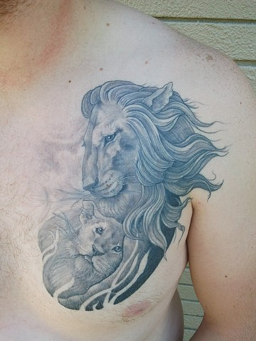 Armstrong Bc Good Times Tattoos Lion And Cub