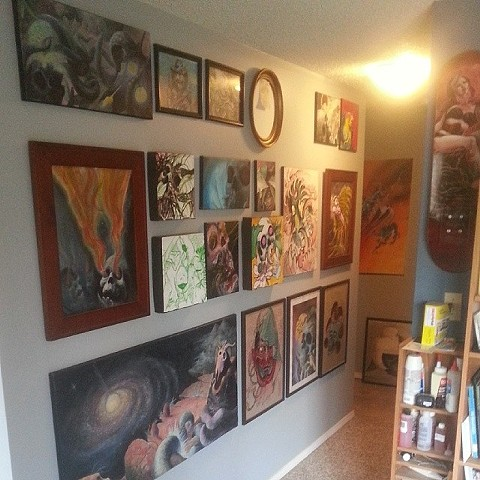Wall of art I've done over the years