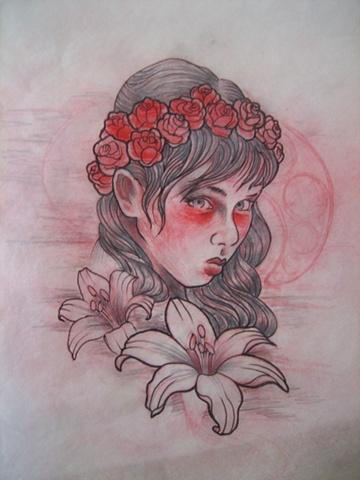 Girl n lilies!