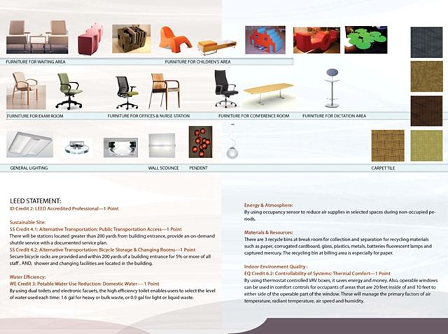 •   Dental Office - LEED Statement and Furniture