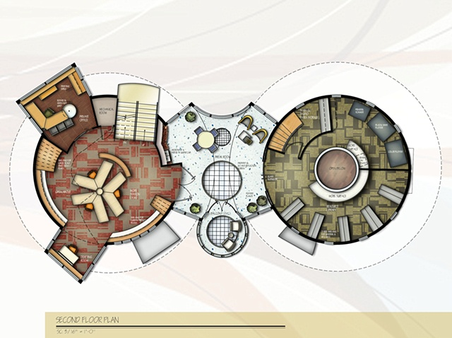 •   Design and Stain Glass Studio - Second Floor Plan