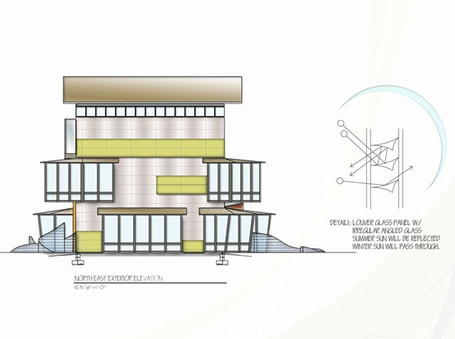•   Design and Stain Glass Studio - North East Exterior Elevation
