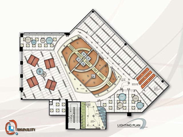 •   IIDA Design Competition - Lighting Plan