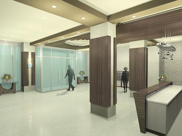 Freda weng u chu apartment lobby design angle 2 for Apartment lobby design