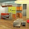 •   Interior Perspective: Reception Area