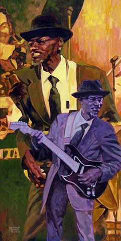 Blues guitarist tribute