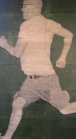 Running Left (detail)