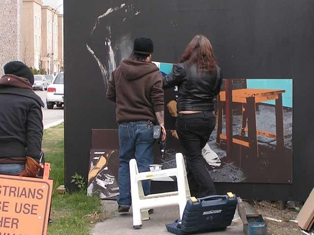 Installing Oven with Sarena & Susan