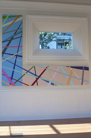 Install Shot, Left to Right:  'See the desire in her eyes' (Glorious Sky)   'Passed over again!' (Sunset Fog)