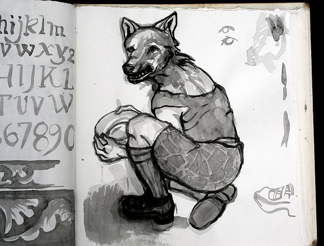 Untitled Study (Wolf)
