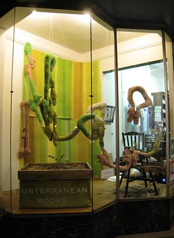 Dear Wheatgrass (stuffed arms installation)