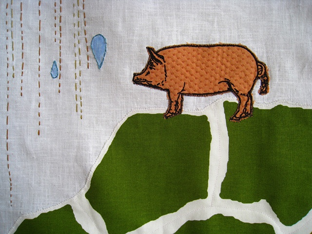Pig on a Hill (detail)