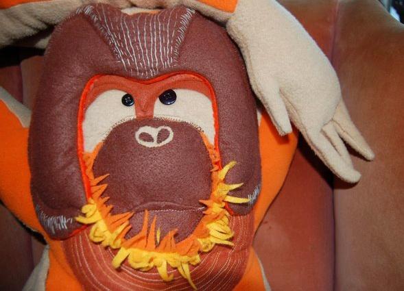 stuffed orangutan