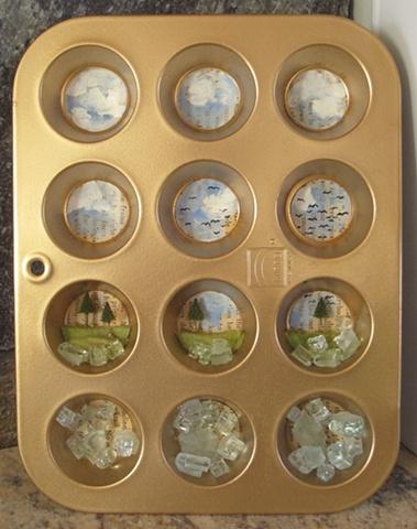 Mini Muffin Tin Diorama