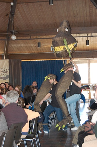 giant T-rex (three-man puppet)