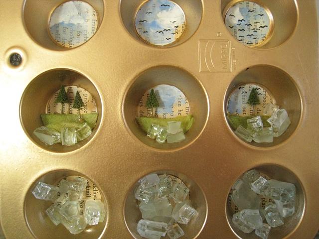 Mini Muffin Tin Diorama (detail)