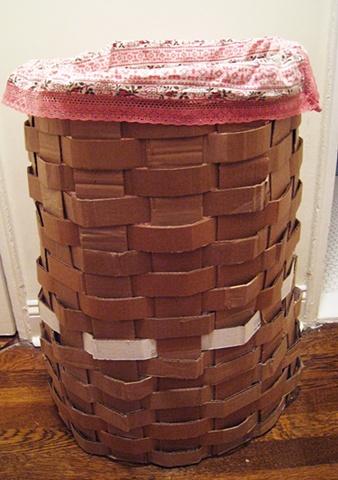 woven cardboard hamper