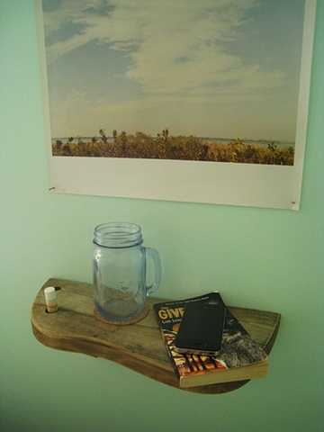 Bedside Shelf in use