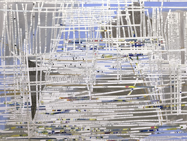 Shredded Paper Paintings