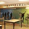 classroom mural: left side