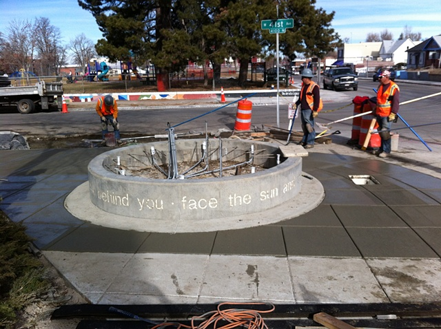 Base for my public sculpture on Tennyson Ave. in Denver.