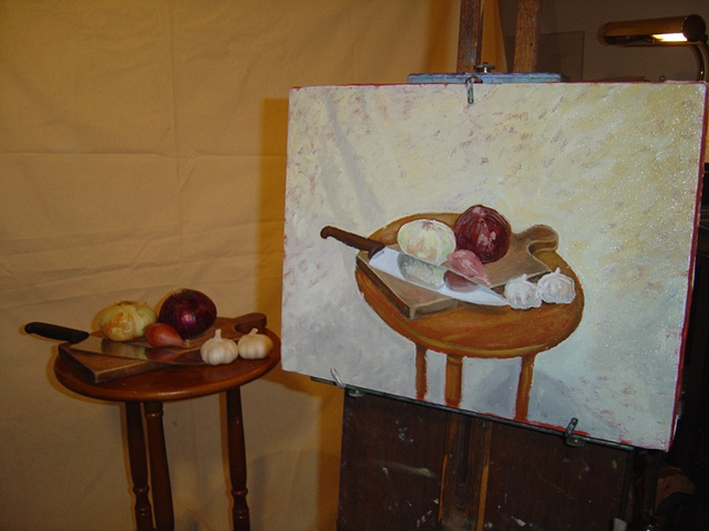 Still Life with Onions #2