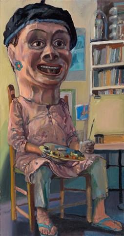 """Everyman Self Portrait - My Big Artist Head"""