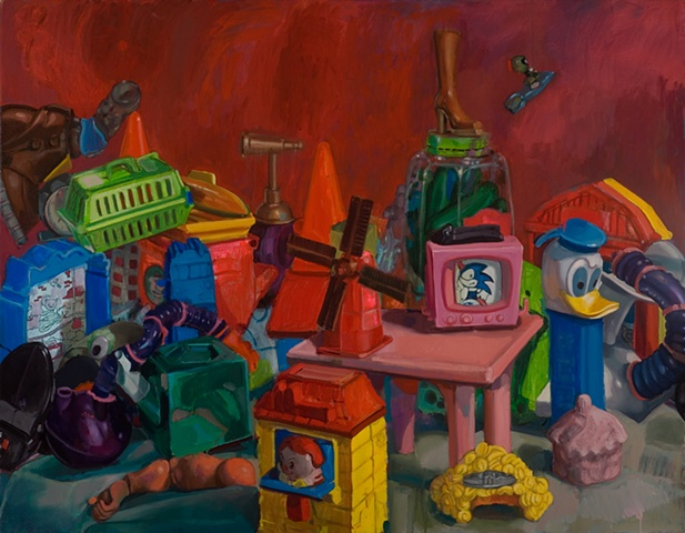 """""""The Last Toy Painting in Red"""""""