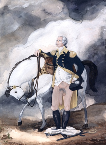 george, george washington, history, president, portrait, iconoclast, horse, colonial, washington, art, justin richel, penis, big penis, huge penis, father of a nation, father of our nation, founding father, icon, iconoclast, hero, revolutionary