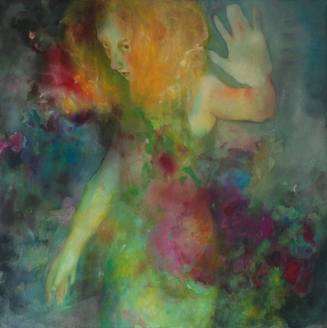 figurative acrylic tropical gesture