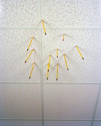 Pencils in drop ceiling