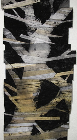 Tree collage drawing by artist Owen Rundquist