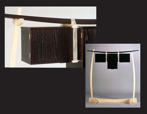 """Hanging Cabinet"", furniture piece by Rich Tannen"