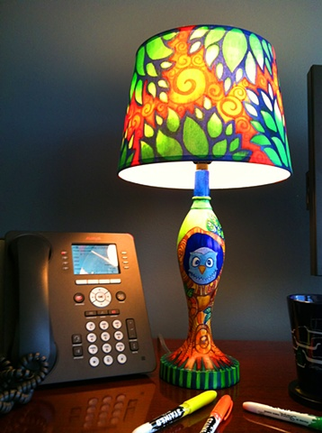 Sharpie Stained Lamp