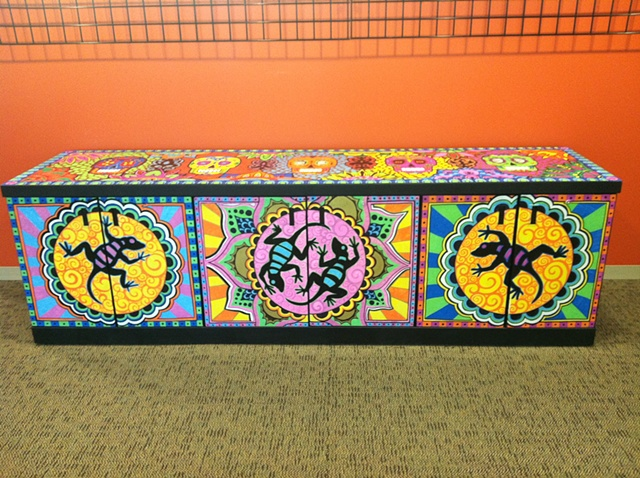Day of the Dead Credenza