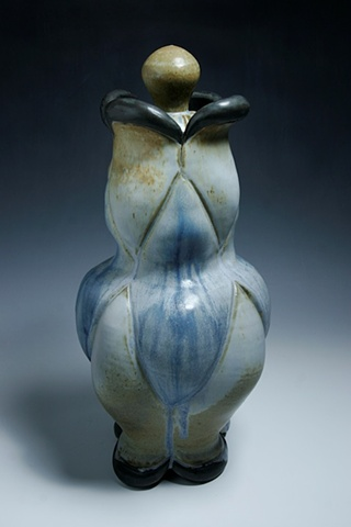 Blue Ash Lidded Jar