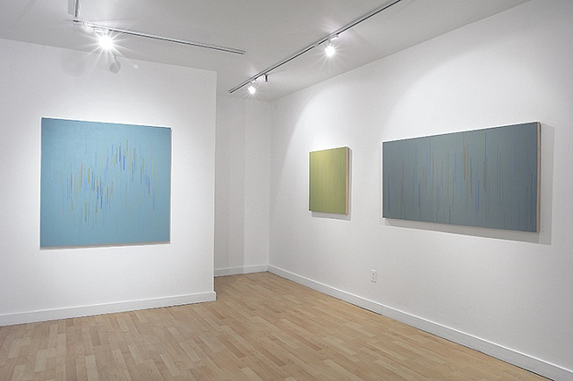 Installation view of Untitled 03, 08 & 07