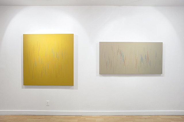 Installation view of Untitled 02 and 13 2009