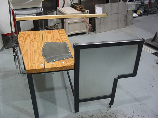 Glass Blowing Bench  Custom design and fabrication for private client in Alaska